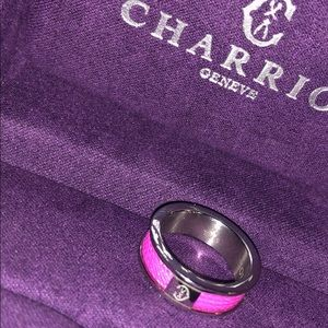 Charriol ring Forever band pink